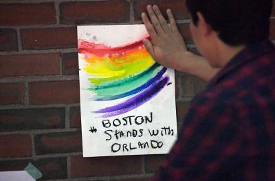 Orlando shooting gay rainbow flag
