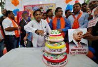 Hindu Sena birthday party for Trump