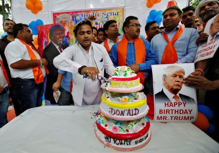 Hindu Sena birthday party for Trump