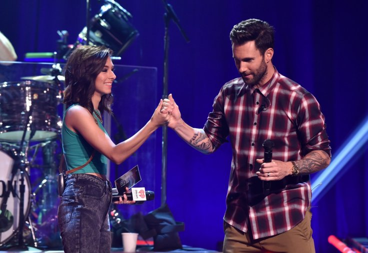 Christina Grimmie with Adam Levine
