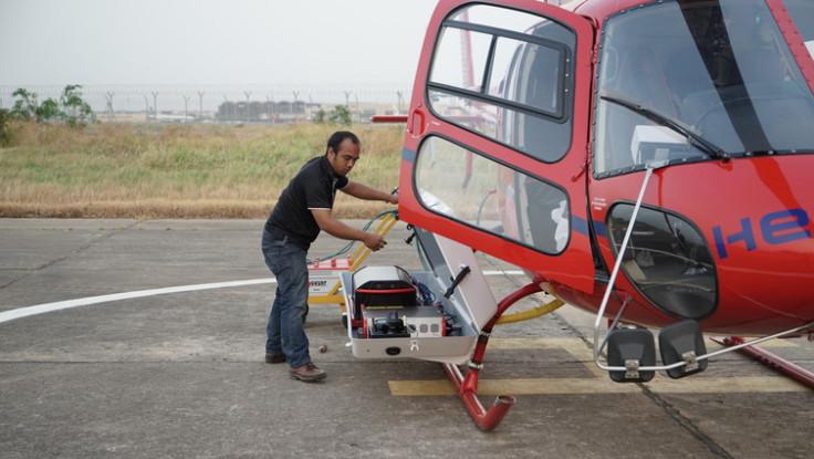 Loading the Lidar equipment.