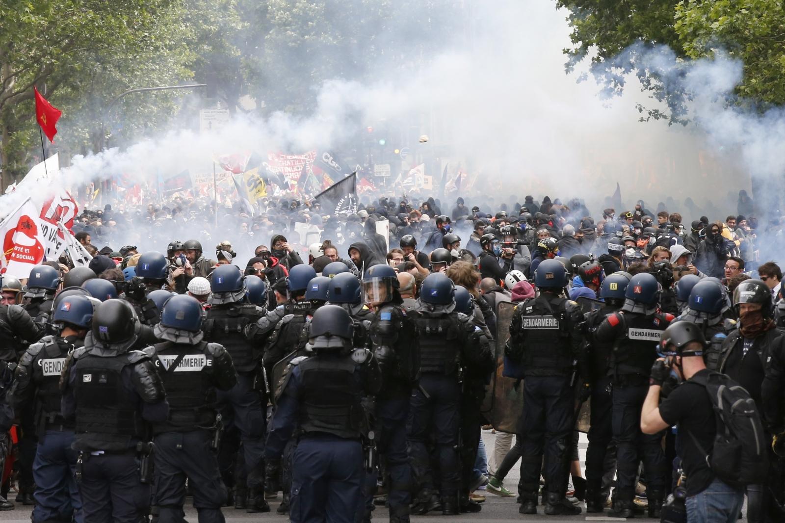 Tear gas floats