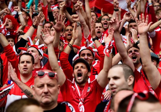 Fans in Bordeaux watch the match