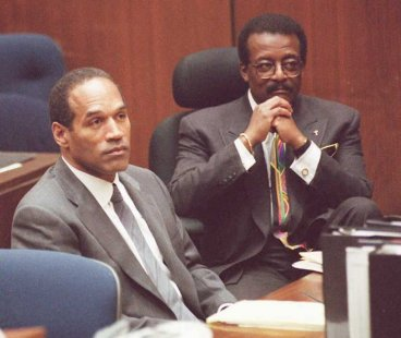 Johnnie Cochran and OJ Simpson