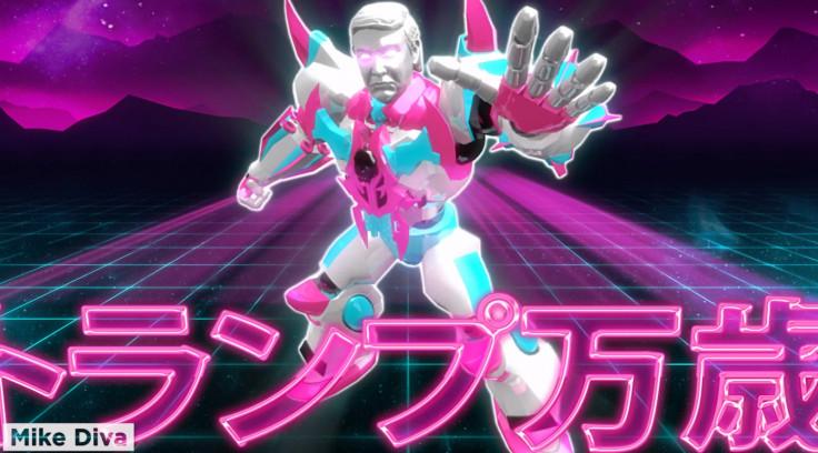 Kawaii Donald Trump as a giant robot