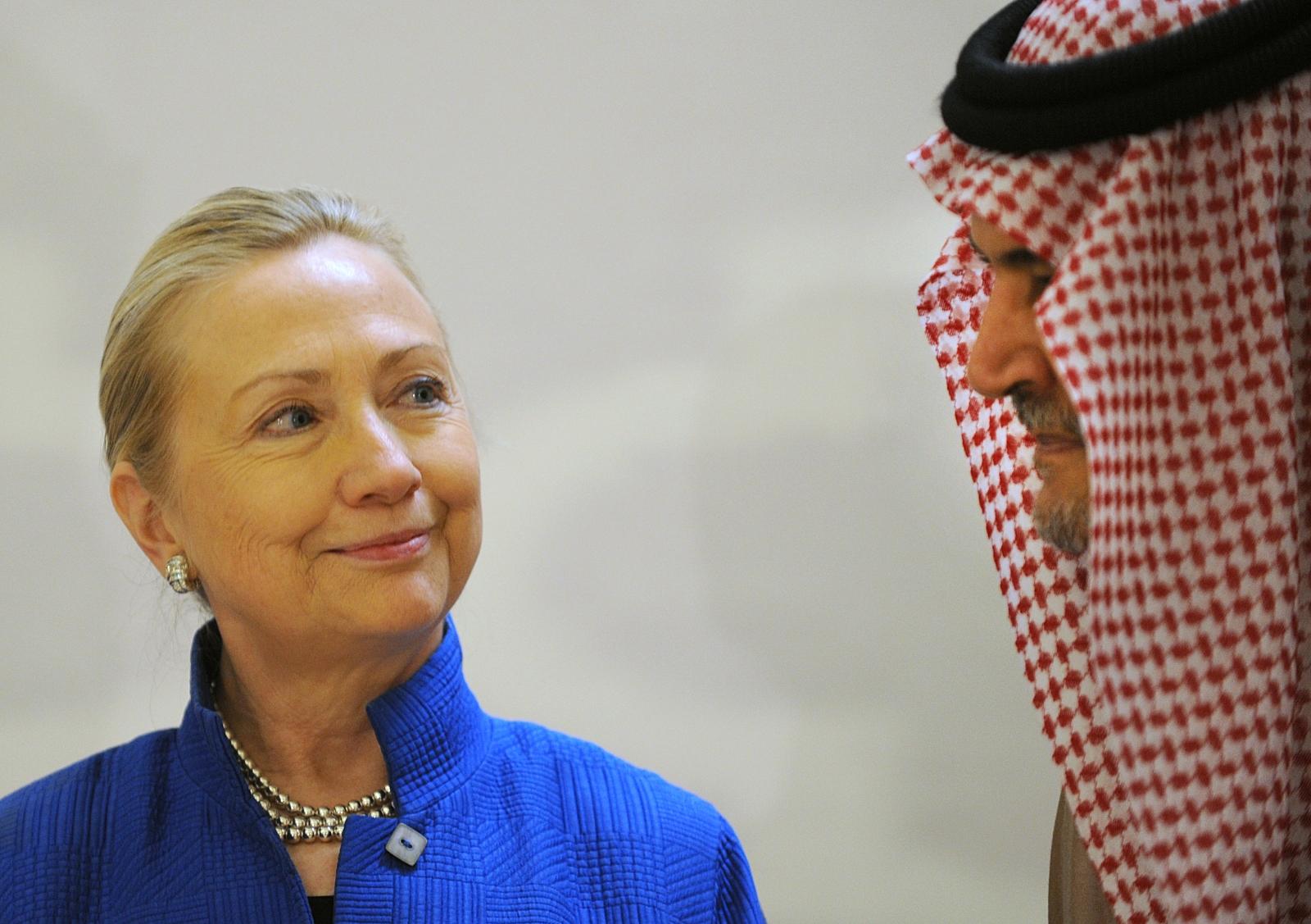 Hillary Clinton and Saudi Foreign Minister Prince Saud Al-Faisal
