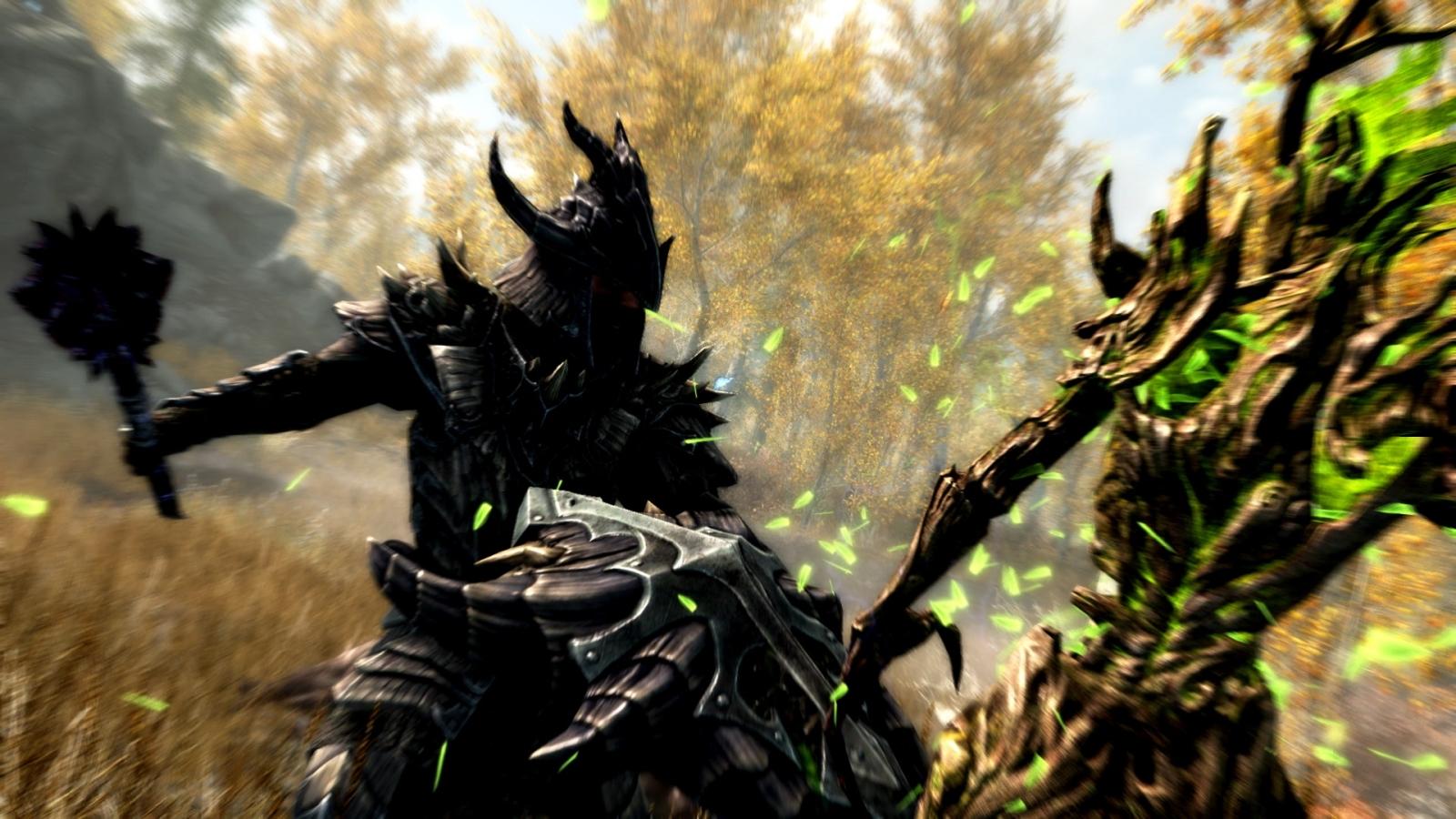 Skyrim Special Edition Spriggan attack