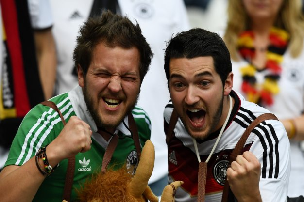 Germans in the crowd