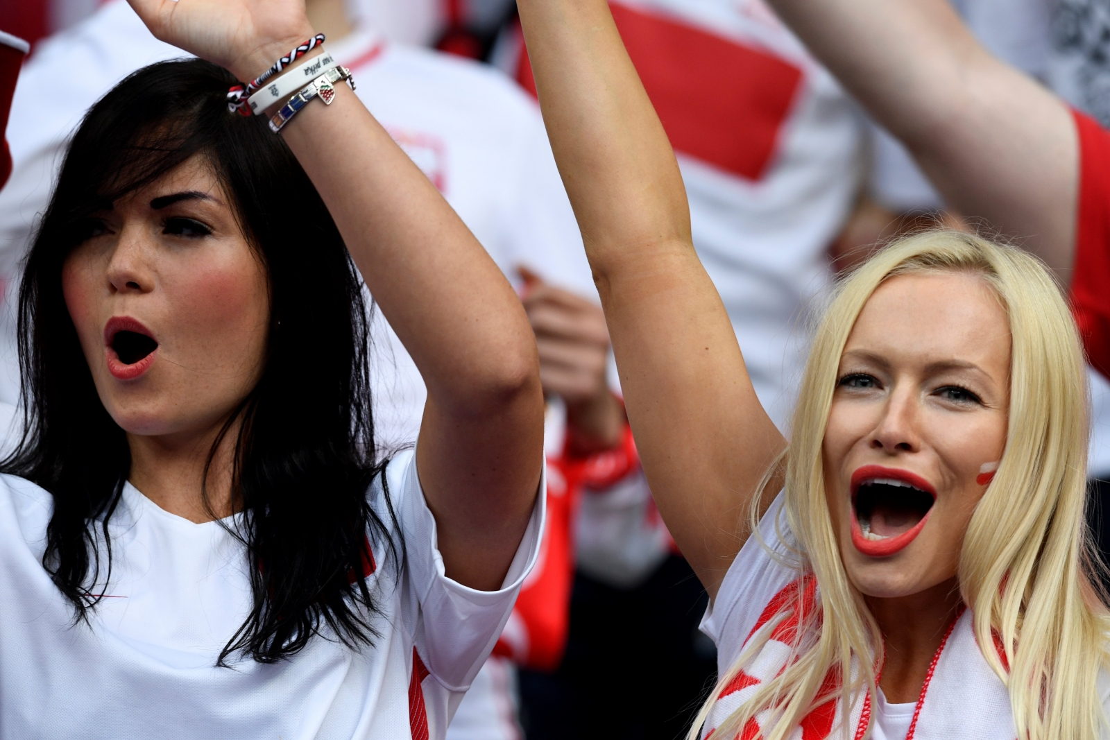 Two Polish supporters
