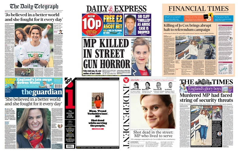jo cox newspaper headlines