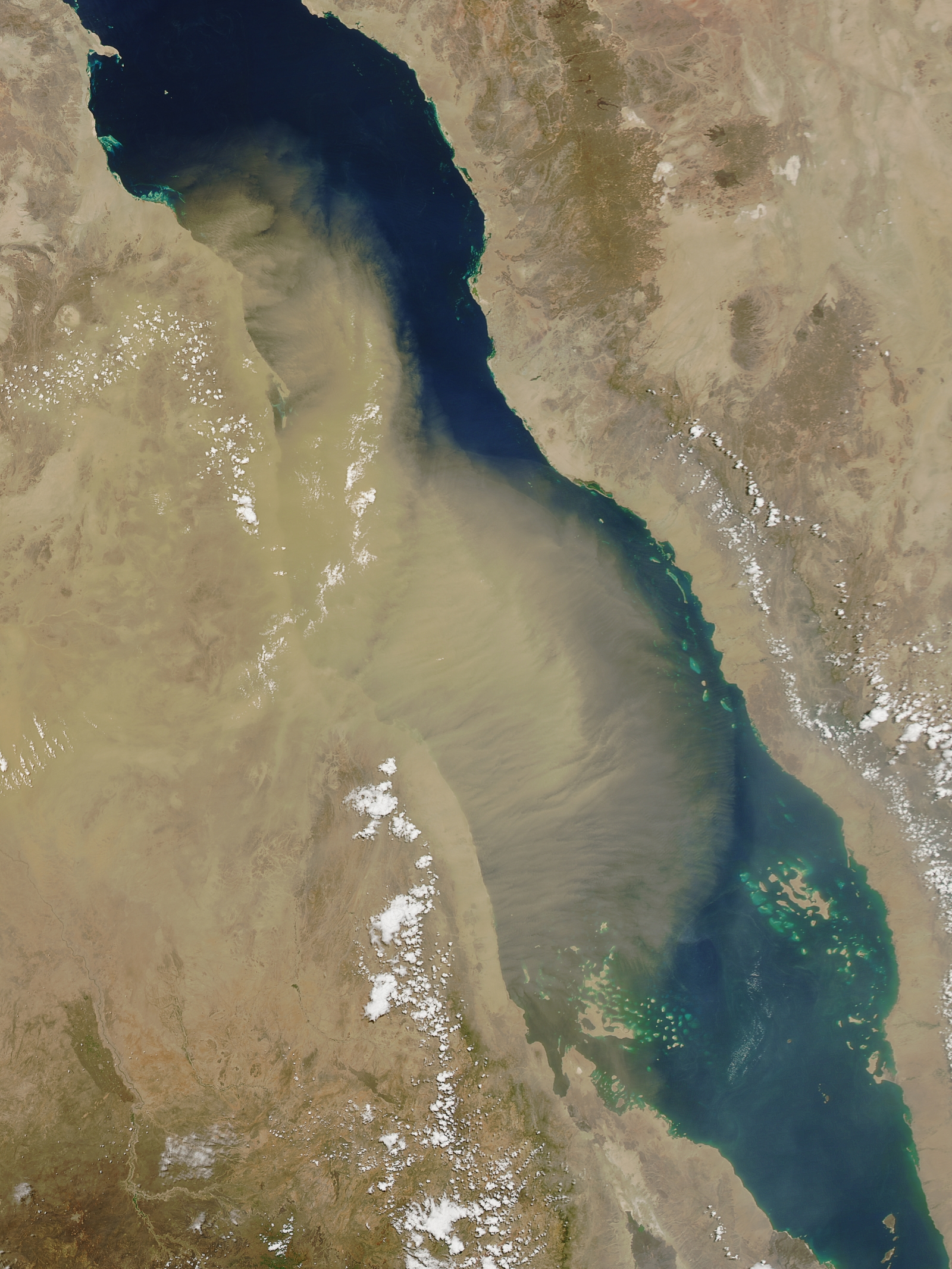 Red Sea dust storm