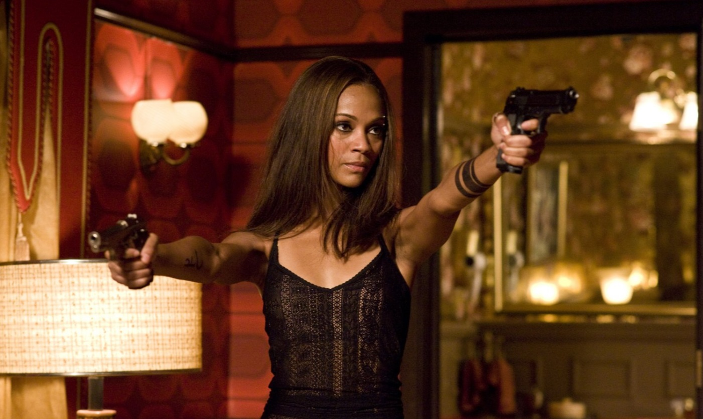 Zoe Saldana in The Losers