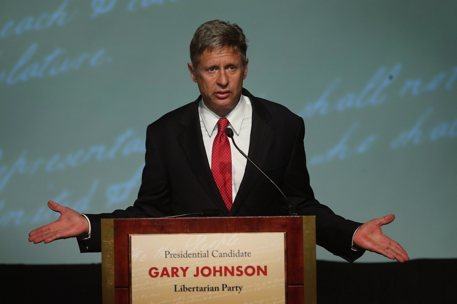 Libertarian nominee Gary Johnson