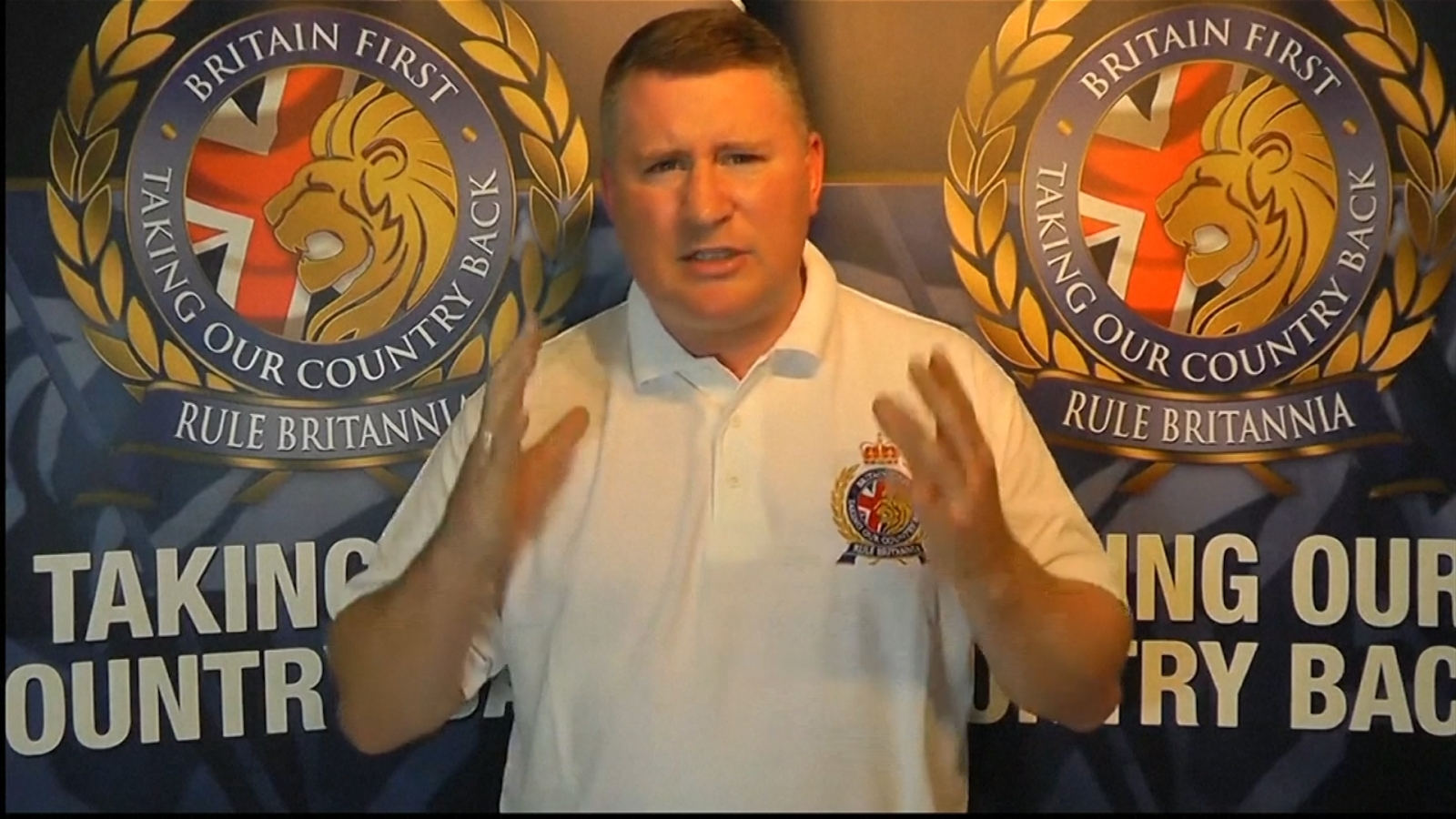 Britain First Leader denies involvement in murder