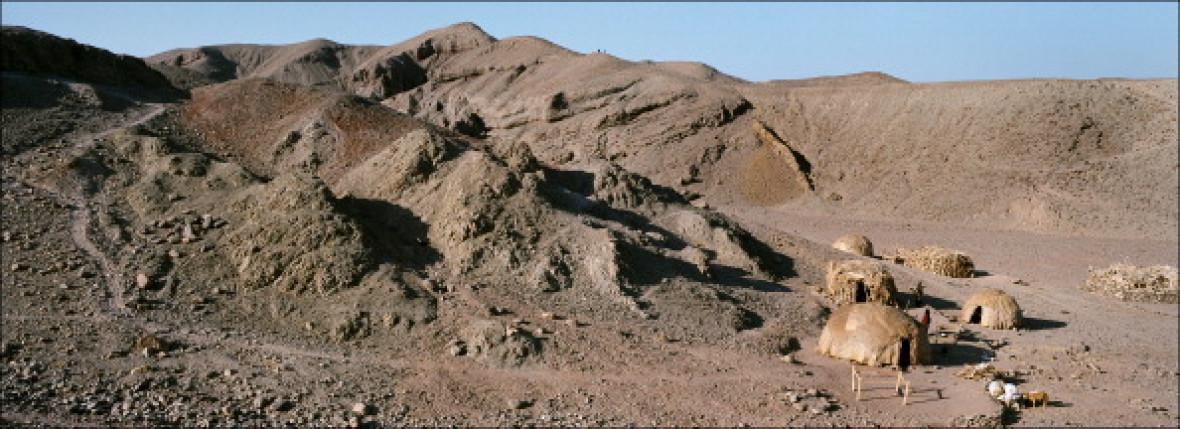 footprints Danakil desert