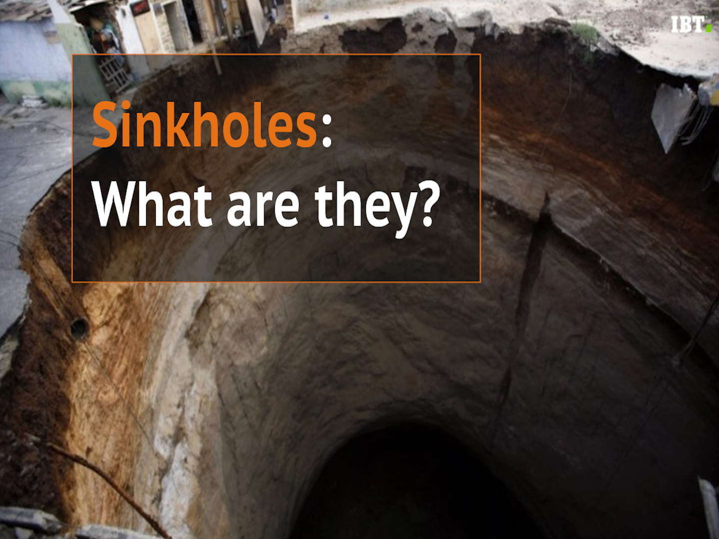 Sinkholes: What are they?