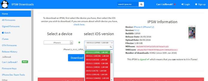 IPSW for Apple devices
