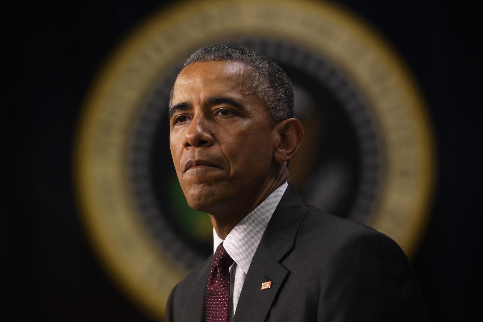 Obama sombre