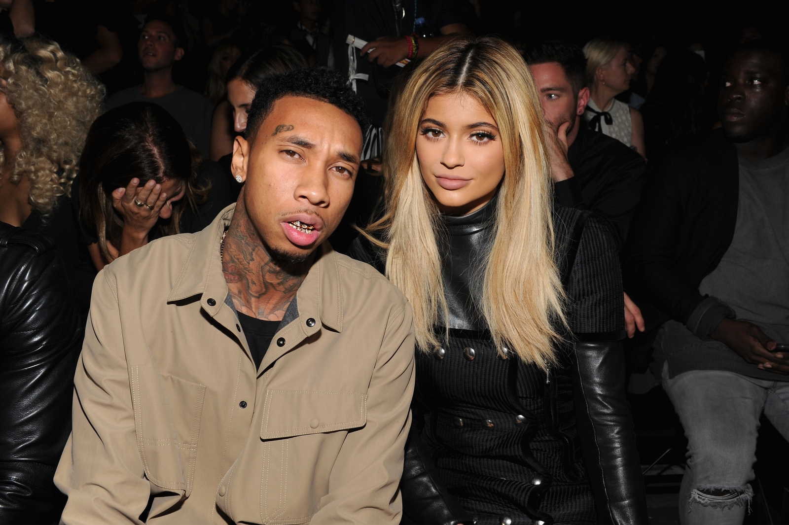 Tyga and Kylie Jenner attend the Alexander Wang Spring 2016 fashion show