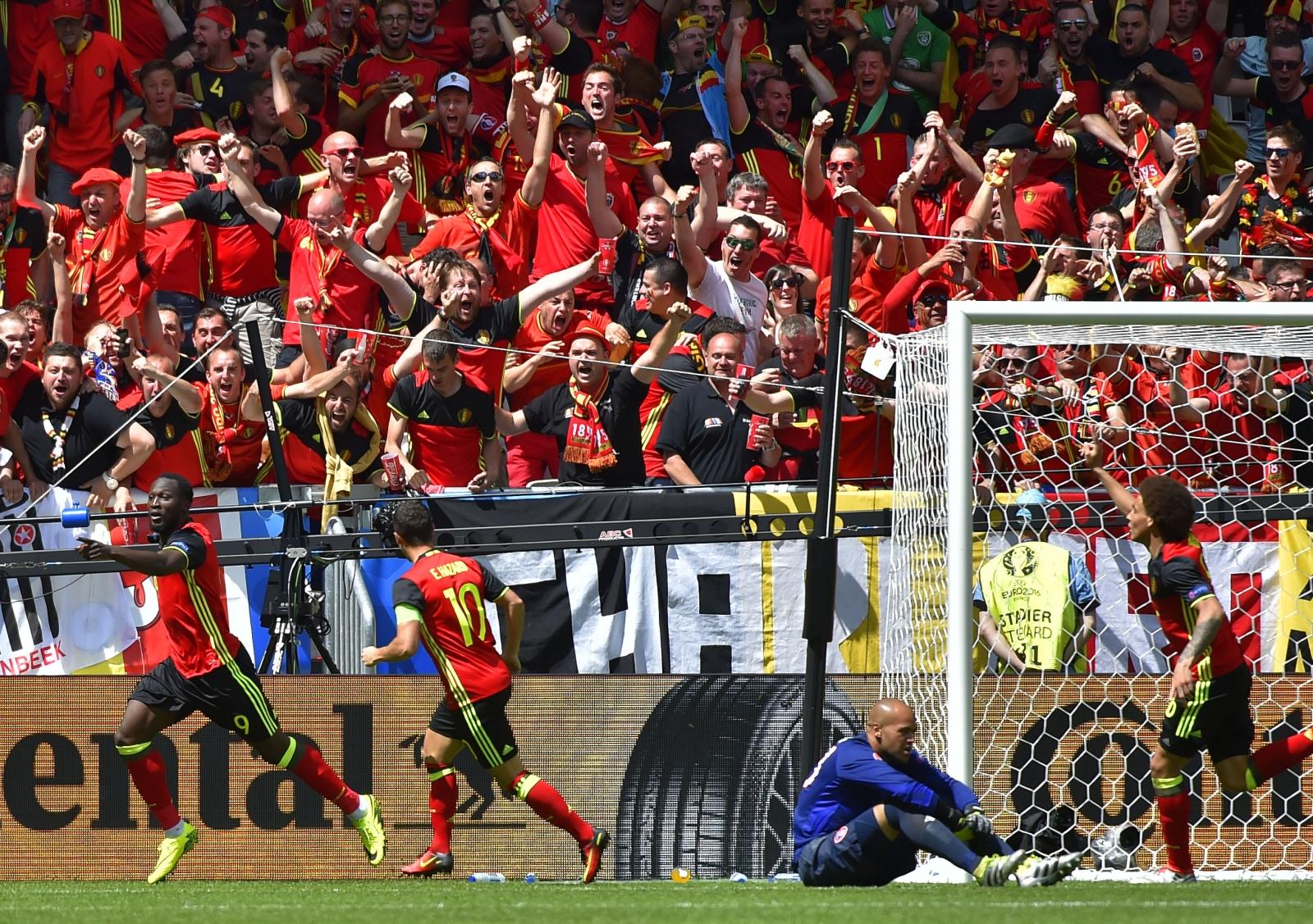 Belgium score against Ireland