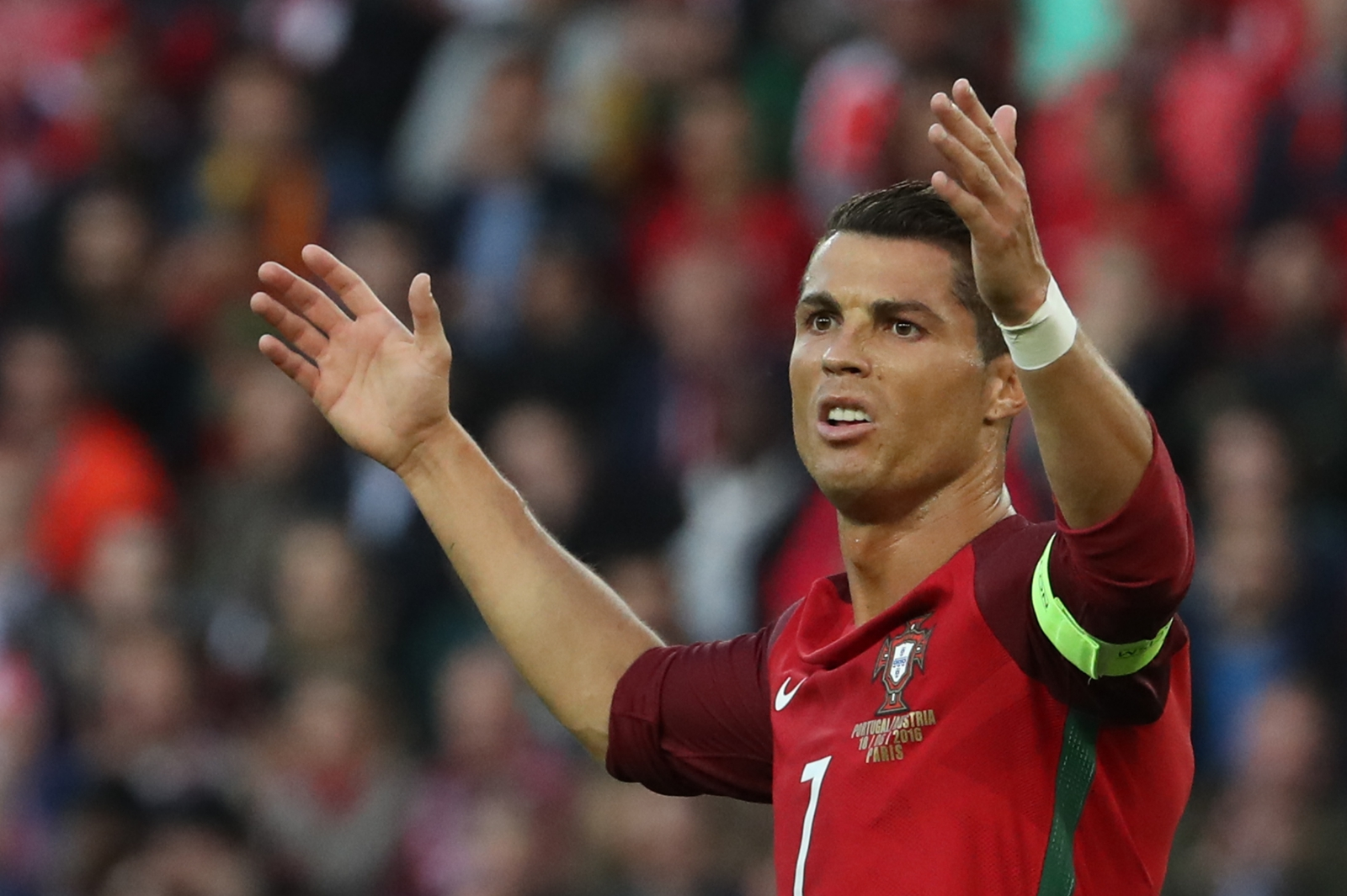 Ronaldo looks frustrated
