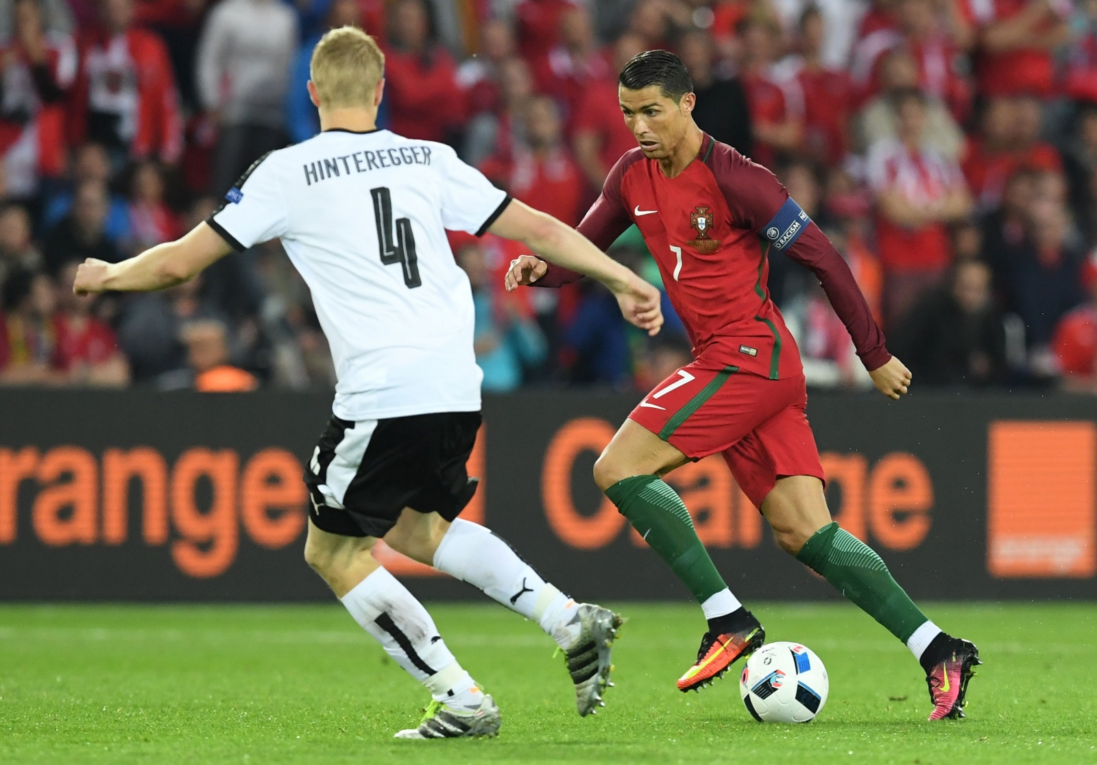 Ronaldo looks for an opening