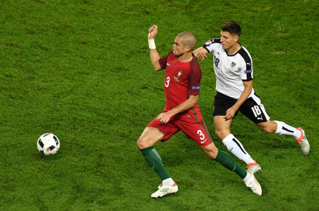 Pepe on the ball for Portugal