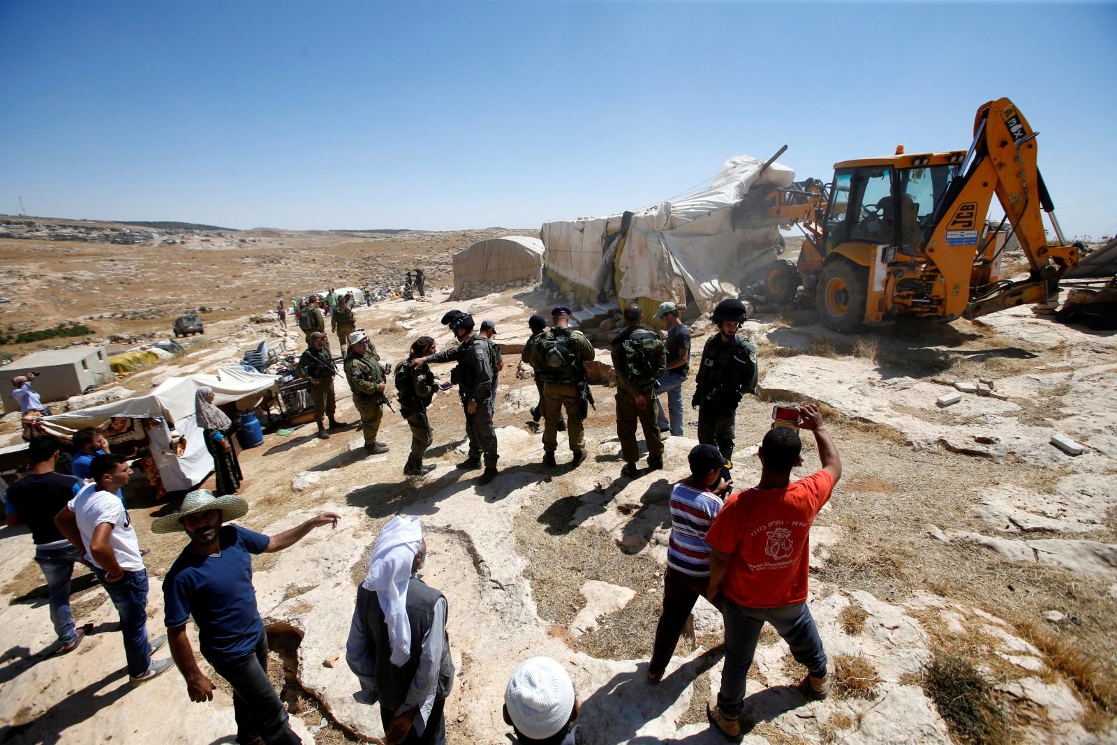 West Bank Palestine Israel demolition 2016