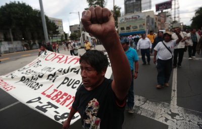 Mexico Oaxaca teachers protest