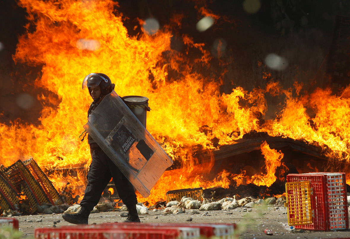 Mexico Oaxaca teachers protest