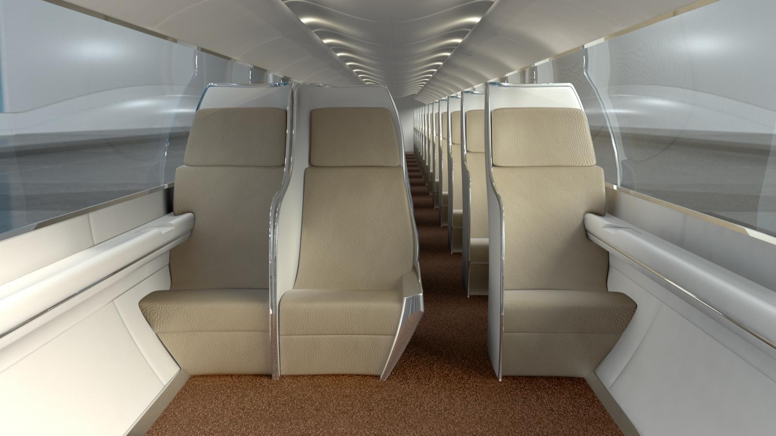 Hyperloop pod interior