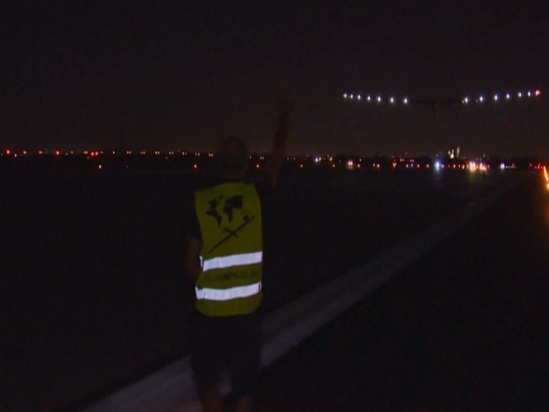 Solar Impulse takes off from New York