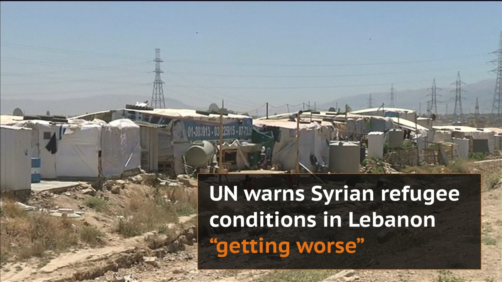 World Refugee Day: UN warns conditions of Syrian refugees in Lebanon are 'getting worse'