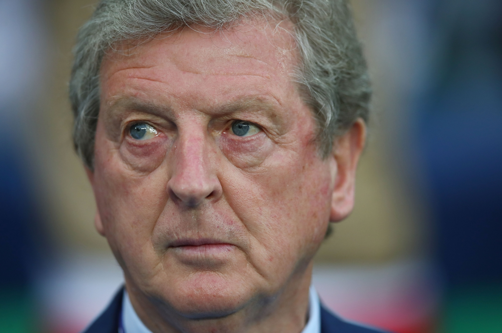 Roy Hodgson watches on from the sidelines
