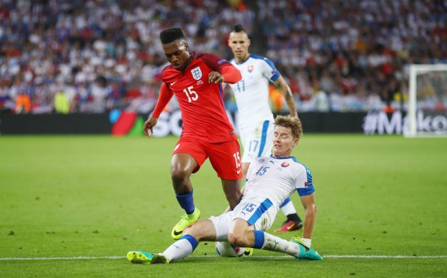 Daniel Sturridge is tackled