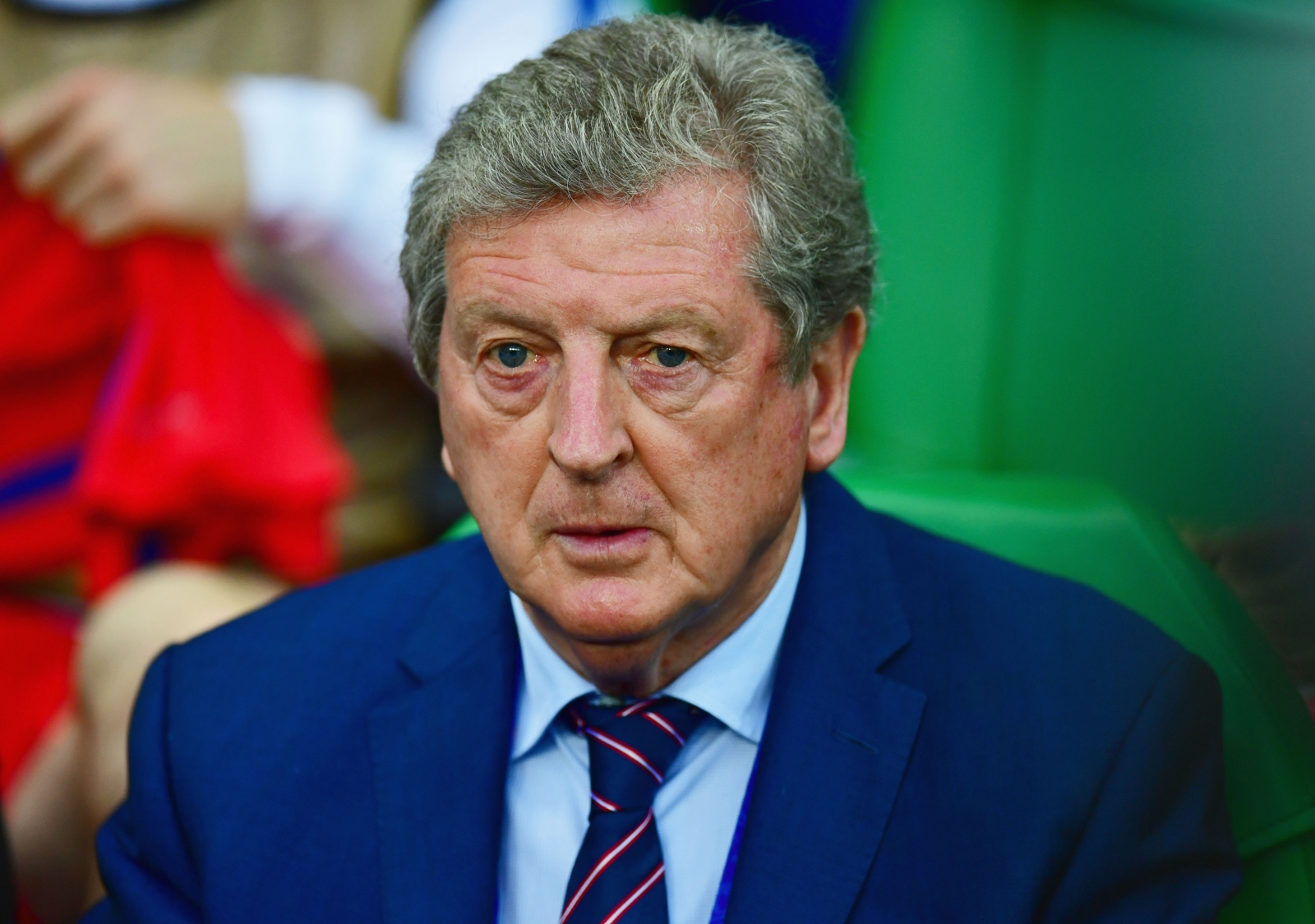 Roy Hodgson looks on anxiously