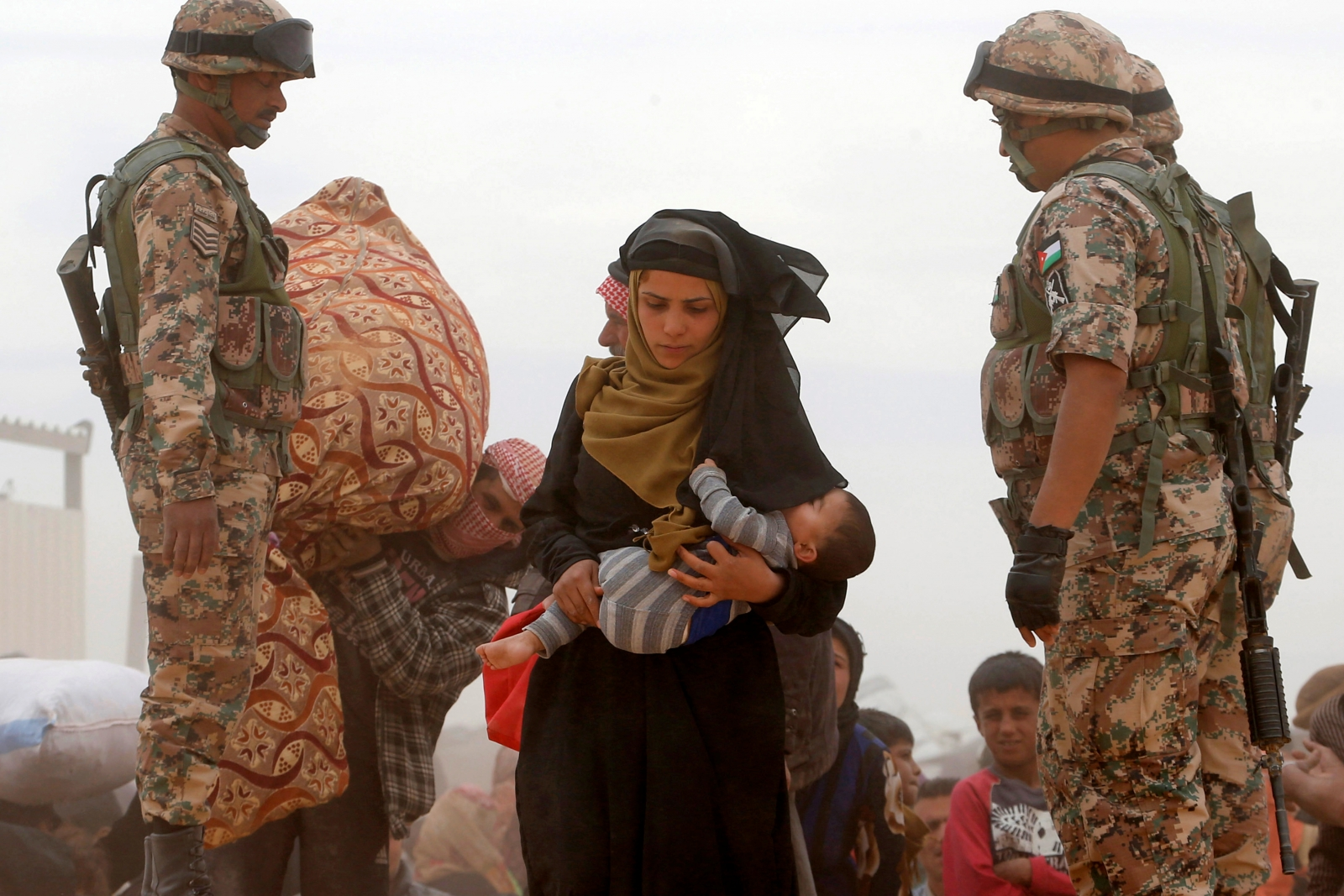 A Syrian refugee woman