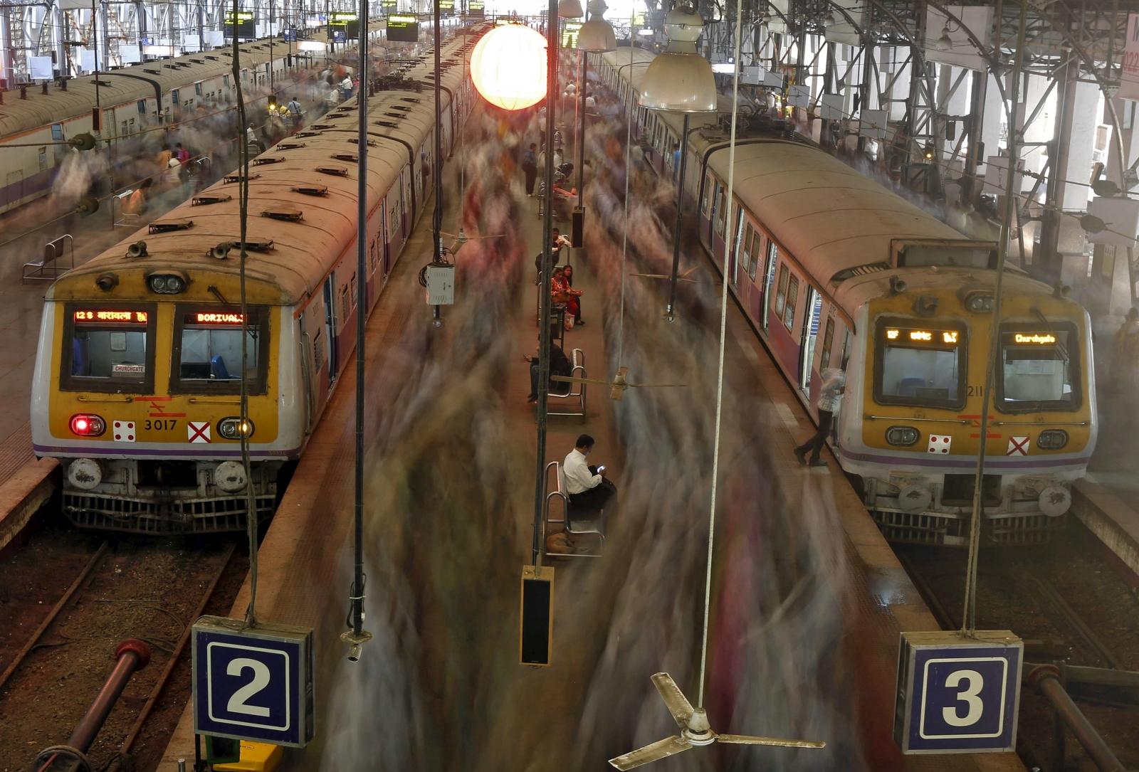 Mumbai rains and local train