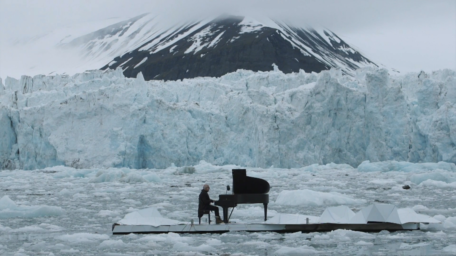 Greenpeace piano performance in Artic