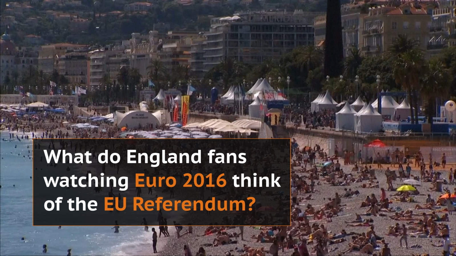 What do England fans at Euro 2016 think of a potential Breixt?