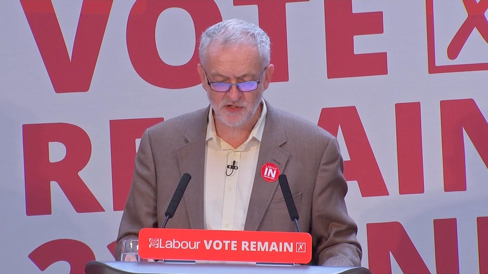Corbyn Remain speech