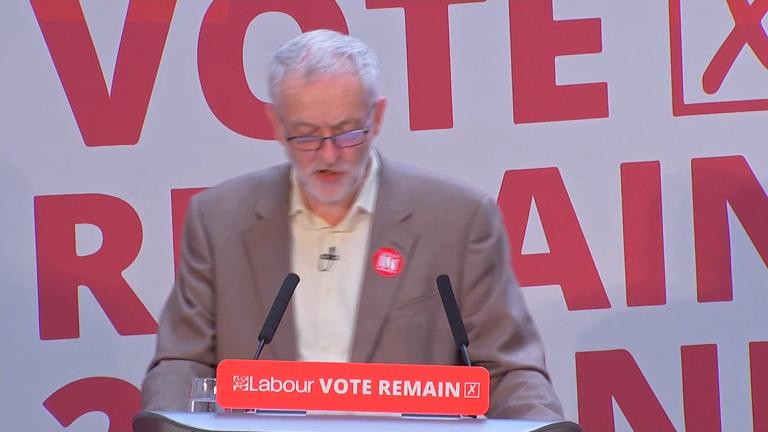 Jeremy Corbyn leads Labour Remain campaign blitz as vote looms