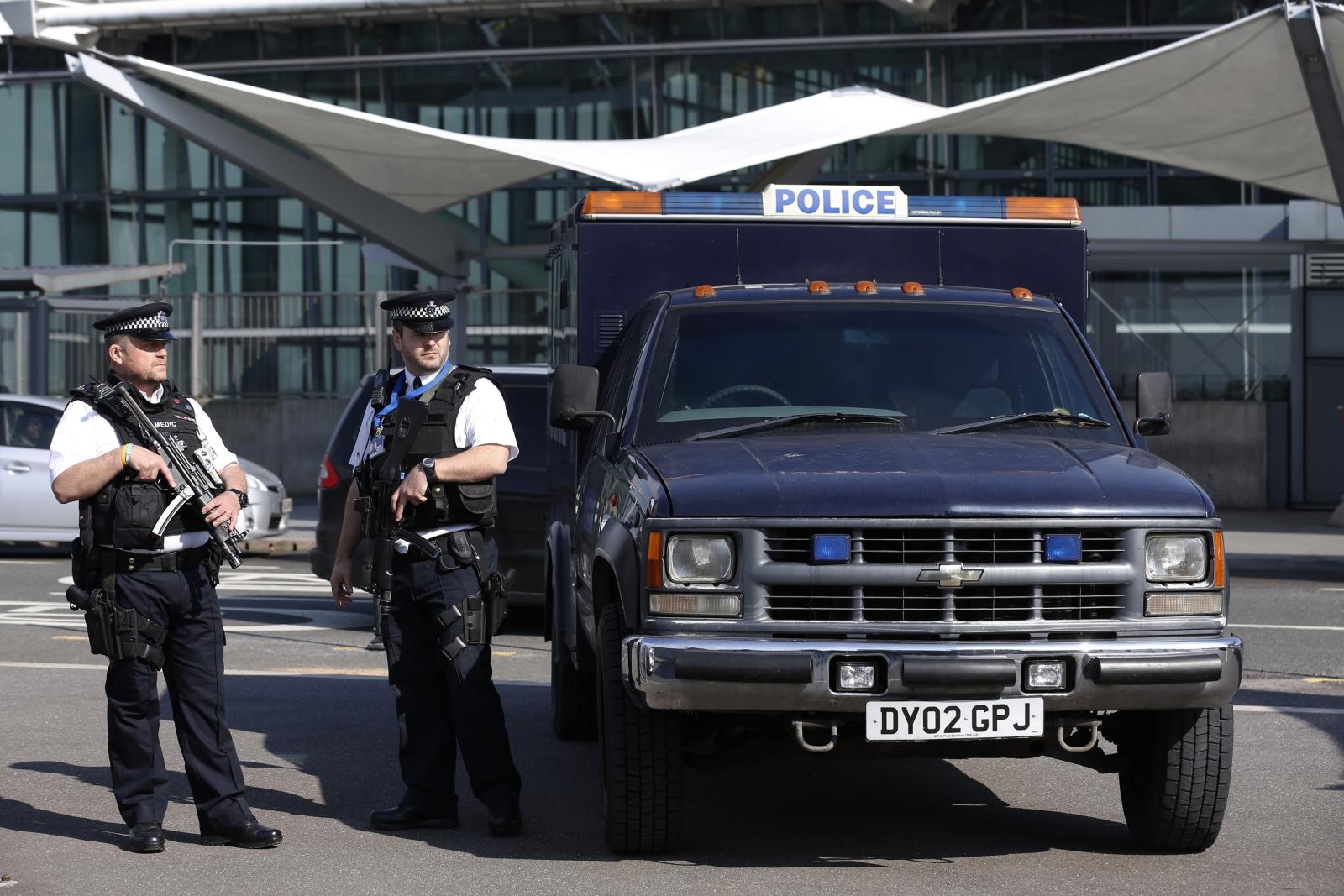 Heathrow police counter terror police arrest