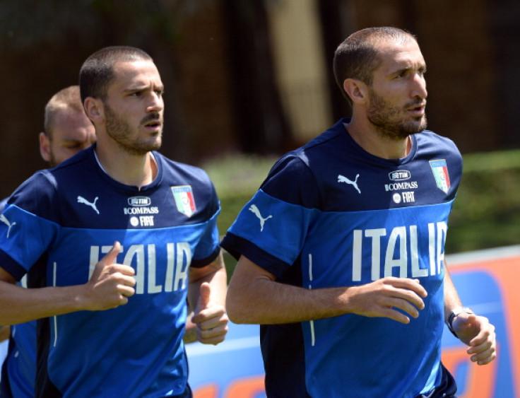 Leonardo Bonucci and Giorgio Chiellini