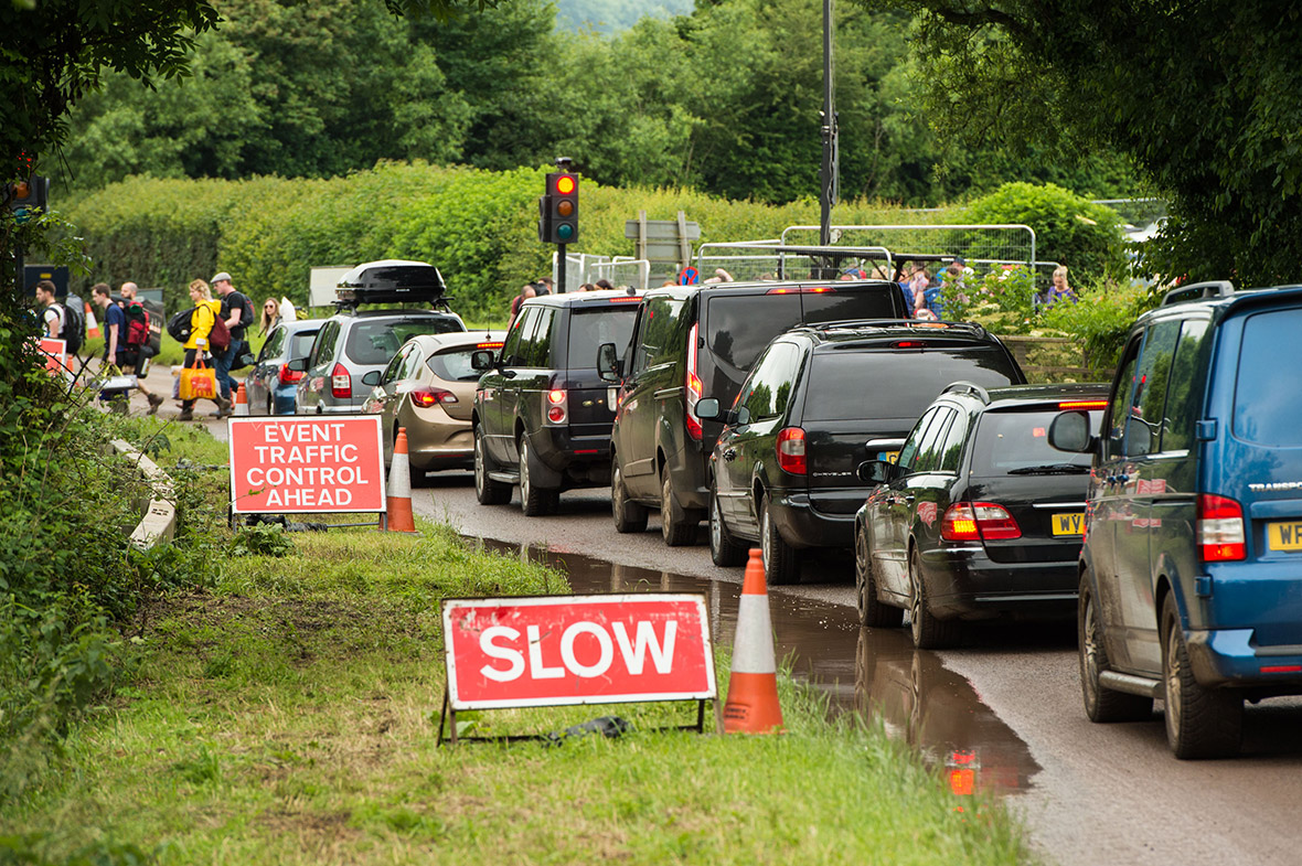 Glastonbury traffic