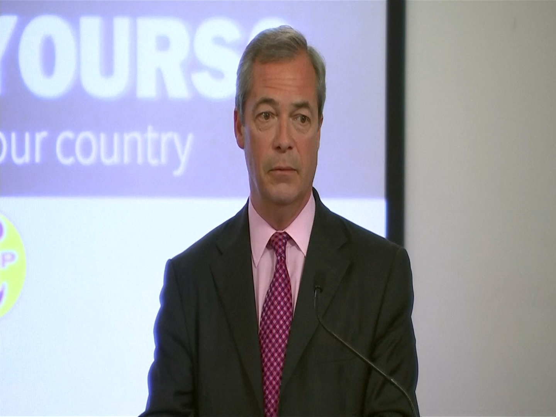Nigel Farage at last speech before vote