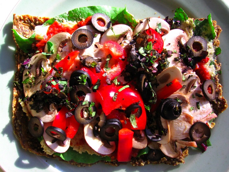 raw veganism pizza