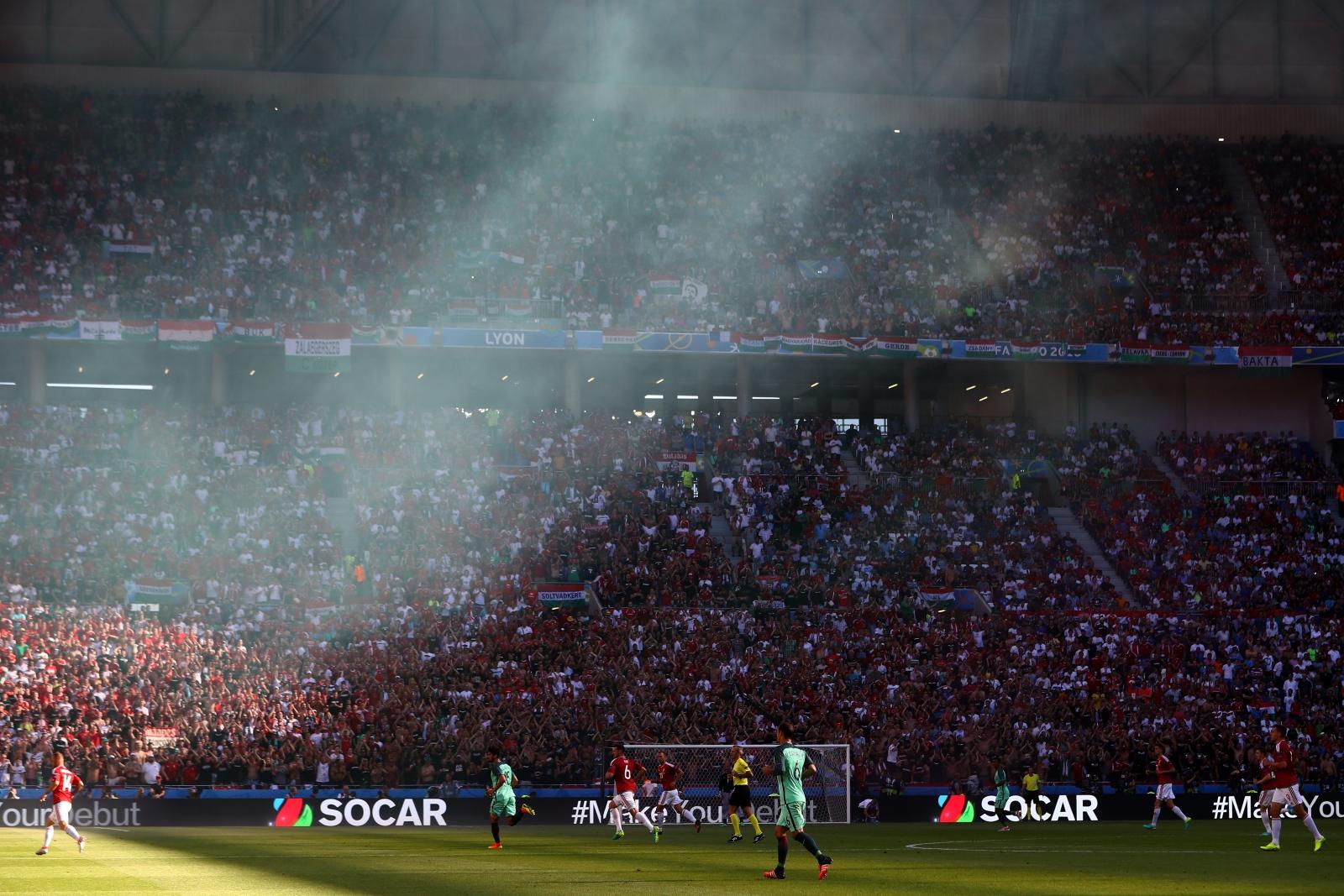 The scene inside the stadium