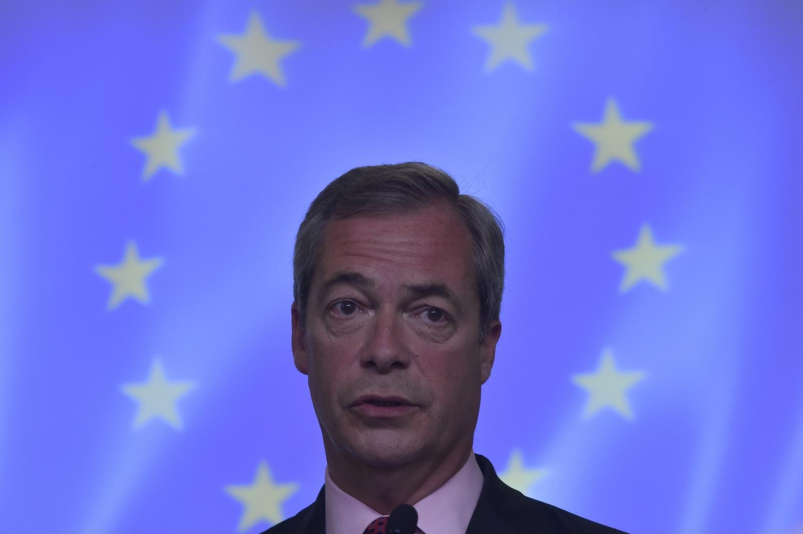 Nigel Farage EU flag