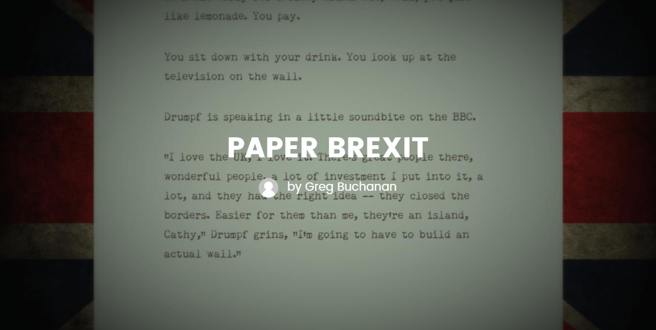 Paper Brexit EU Referendum interactive fiction